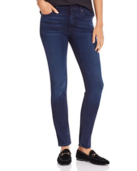 7 For All Mankind - Skinny Jeans in Blue/Black