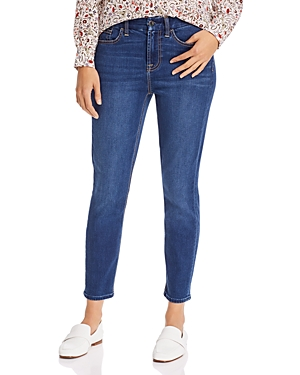 7 For All Mankind Jen7 By  Skinny Ankle Jeans In Medium Blue