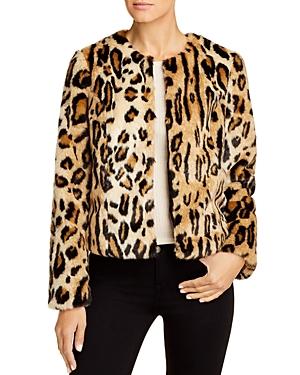 Vero Moda Faux-Fur Leopard-Print Jacket