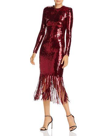 Rebecca Vallance - Matisse Sequin Fringed Midi Dress