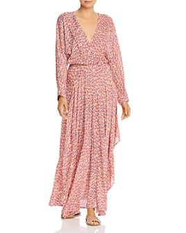Poupette St. Barth - Ilona Flounced Faux-Wrap Maxi Dress
