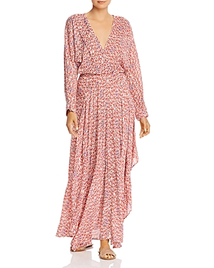 Poupette St. Barth Ilona Flounced Faux-Wrap Maxi Dress