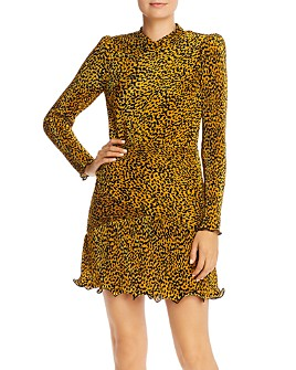 Saylor - Tovah Pleated Leopard Print Dress
