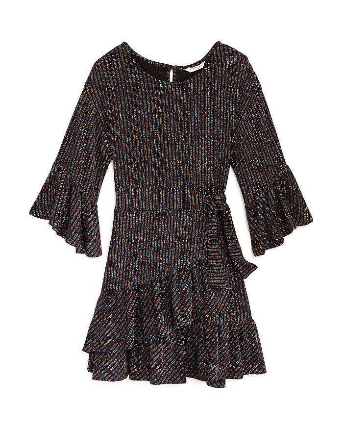 Habitual Kids - Girls' Ruffled Rainbow-Stripe Dress - Big Kid