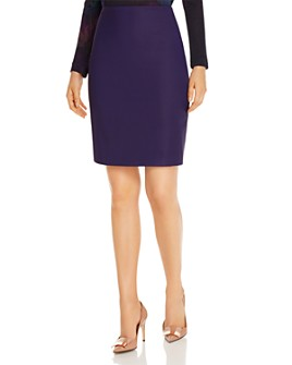 BOSS - Vikena Virgin Wool Pencil Skirt