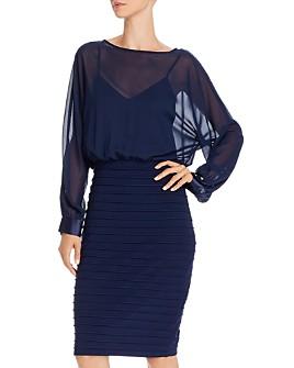 Adrianna Papell - Sheer Blouson Dress