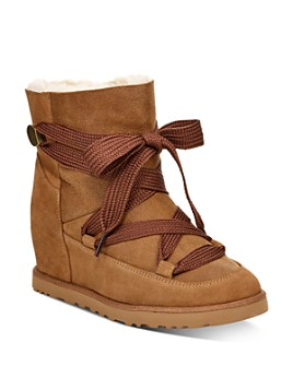 UGG® - Women's Classic Femme Lace-Up Booties - 100% Exclusive