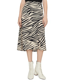 Sanctuary - Animal-Print Midi Slip Skirt