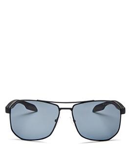 Prada - Men's Sport Polarized Brow Bar Aviator Sunglasses, 59mm