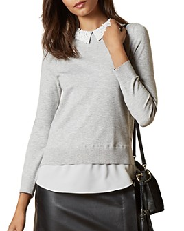 Ted Baker - Zoilaa Embellished Collar Layered-Look Sweater