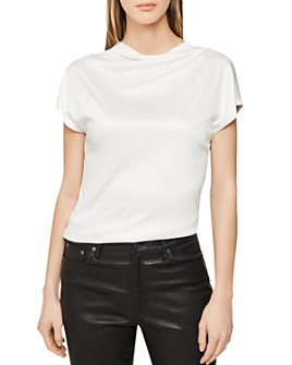REISS - REISS Pax Cowl-Neck Top