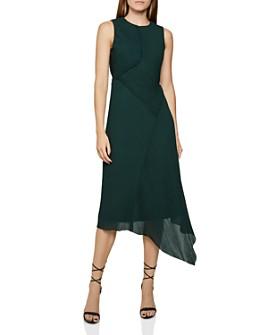 REISS - Rhona Micro Pleated Midi Dress