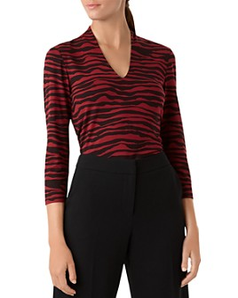 HOBBS LONDON - Aimee Animal-Print Jersey Top