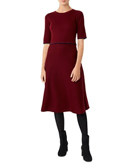 HOBBS LONDON - Louise Knit Fit-and-Flare Dress