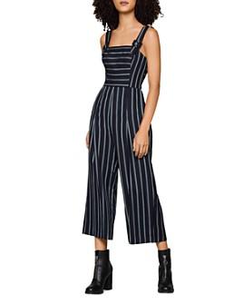 BCBGENERATION - Buckle-Strap Striped Jumpsuit