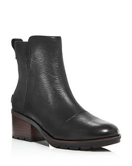 Sorel - Women's Cate Waterproof Block-Heel Booties