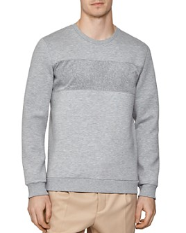 REISS - Arty Texture-Blocked Sweatshirt