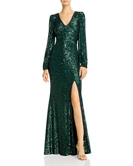 Avery G - Sequin V-Neck Gown
