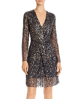 FRENCH CONNECTION - Emille Sparkle Sequined Dress