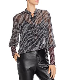 rag & bone - Maris Printed Silk Pullover Blouse