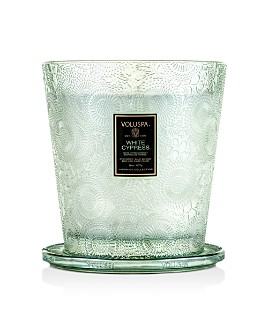 Voluspa - White Cyprus 3-Wick Mini Hearth Candle