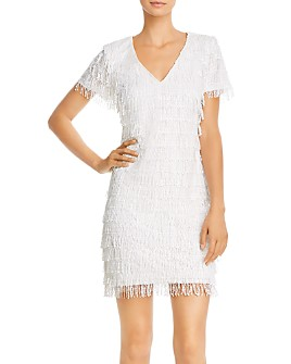 Aidan by Aidan Mattox - Sequin Fringe Shift Dress