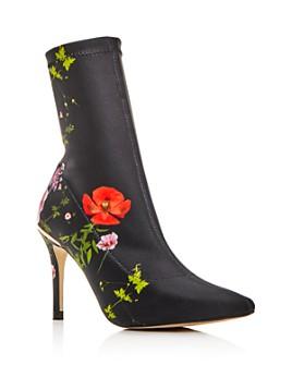 Ted Baker - Women's Elzbet Floral High-Heel Booties