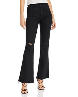 MOTHER - The Weekender Fray Flared Jeans in Guilty As Sin