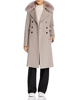 Maximilian Furs - Fox Fur Trim Wool Coat - 100% Exclusive