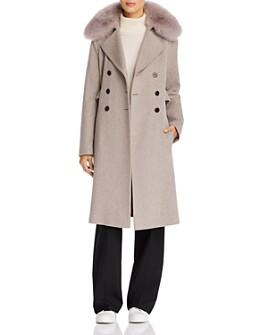 Maximilian Furs - Fox Fur Trim Wool Coat - 100% Exclusive