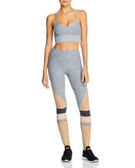 Alo Yoga -  Alo Yoga Lush Strappy Sports Bra & Momentum High-Rise Leggings