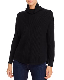 Eileen Fisher - Merino Wool Ribbed Cowl-Neck Sweater