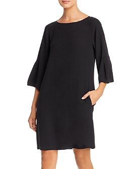 Eileen Fisher - Silk Bell-Sleeve Shift Dress