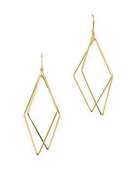 Bloomingdale's - Geometric Drop Earrings in 14K Yellow Gold - 100% Exclusive