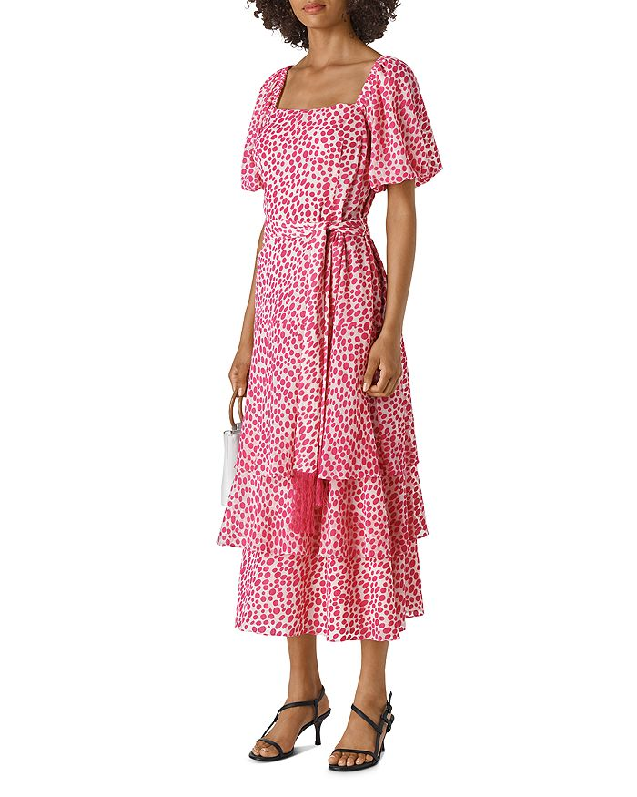 Whistles - Gilly Spotted Belted Dress