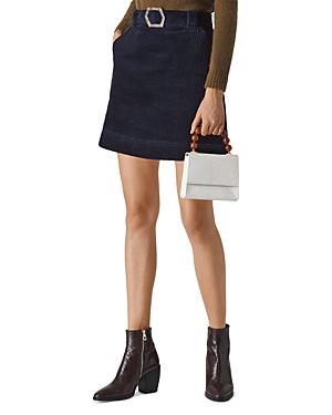 Whistles Corduroy Mini Skirt with Resin Buckle