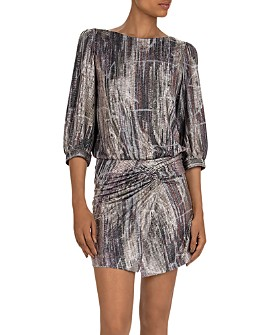 ba&sh - Salina Metallic V-Back Dress
