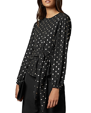 Ted Baker Tops NAIOMY METALLIC DOT BELTED BLOUSE