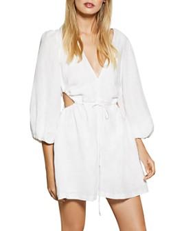 Bec & Bridge - Lottie Linen Cutout Mini Dress