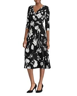 Ralph Lauren - Belted Floral Jersey Dress