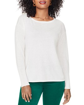 NYDJ - Button-Back Boatneck Sweater
