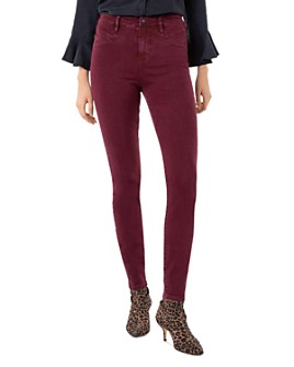 Liverpool Los Angeles - Abby High-Rise Skinny Jeans in Oxblood