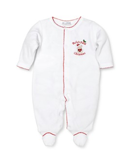 Kissy Kissy - Unisex Baby's First Christmas Velour Footie - Baby