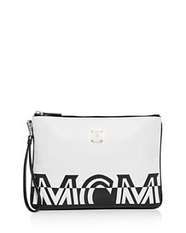 MCM - Contrast Logo Medium Leather Pouch