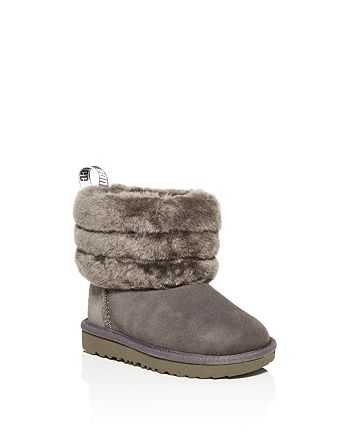 UGG® - Girls' Fluff Mini Quilted Shearling Boot - Walker, Toddler