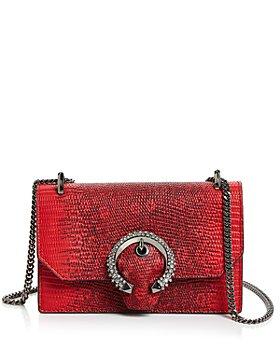 Jimmy Choo - Paris Crystal-Embellished Lizard-Print Mini Bag