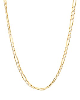 """Argento Vivo - Figaro Chain Necklace in 18K Gold-Plated Sterling Silver, 18"""""""