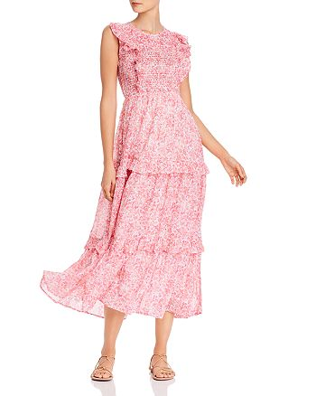 Banjanan - Iris Smocked Floral-Print Maxi Dress