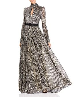 Rebecca Vallance - Vienna Metallic Leopard Print Gown