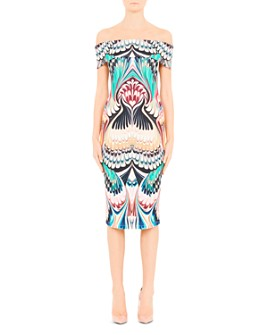 Mary Katrantzou - Ireson Printed Off-the-Shoulder Midi Dress